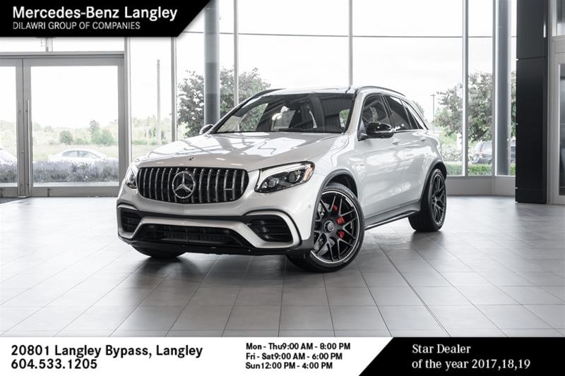 New 2019 Mercedes-Benz GLC63 AMG S 4MATIC + SUV