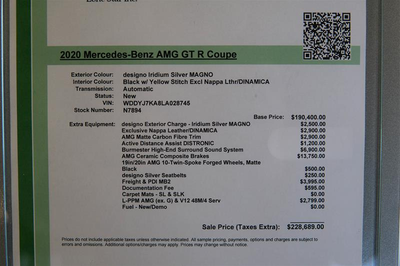 New 2020 Mercedes-Benz AMG GT R Coupe